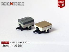 SET 2x HP 350.01 (British N 1:148) in Smooth Fine Detail Plastic