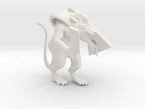 Armored Ratman in White Natural Versatile Plastic
