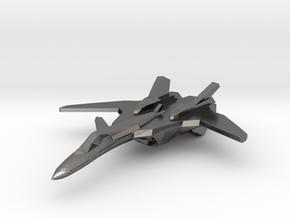 YF-19 Alpha 1 1/350 Scale in Polished Nickel Steel