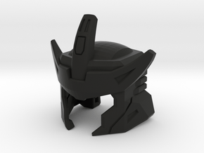 G1 Styled Helm for TR Galvatron in Black Natural Versatile Plastic