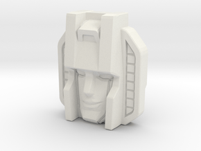 Starscream Face, Sunbow (Titans Return) in White Natural Versatile Plastic