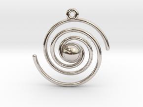 Spiral Galaxy in Rhodium Plated Brass