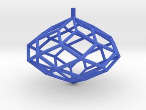 Rhombic Polyhedron Top in Blue Processed Versatile Plastic