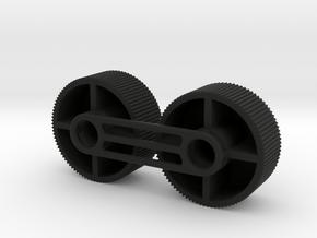 4X20 Scope Adjuster Knob Pair in Black Natural Versatile Plastic