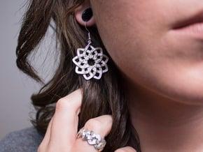 Woven Earrings in Polished Silver
