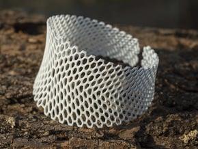 Honeycomb Bracelet  in White Natural Versatile Plastic