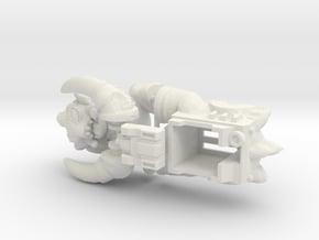 Slog Faceplate & Shell Kit (Titans Return) in White Natural Versatile Plastic