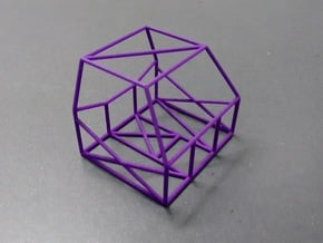 Golf Mk1 Roll Cage 1/24 Scale ESCI in Purple Processed Versatile Plastic
