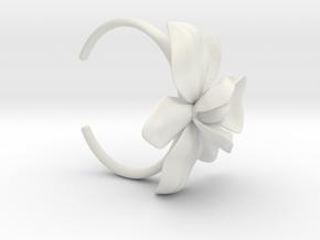 Orchid Bracelet- Nylon Version in White Natural Versatile Plastic: Small