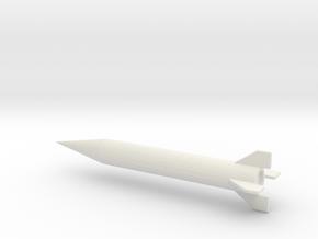 1/144 Scale Iraqi Al Samoud II Missile in White Natural Versatile Plastic