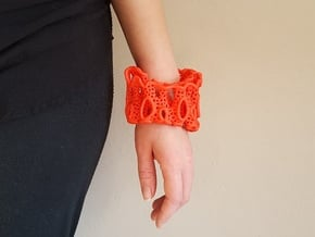 Coral Cuff Bracelet in Red Processed Versatile Plastic