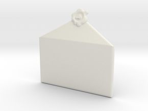 Customizable Envelope Pendant in White Natural Versatile Plastic
