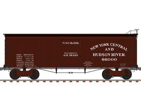 NYC&HR 35' Boxcar  LATE  Version in Smooth Fine Detail Plastic