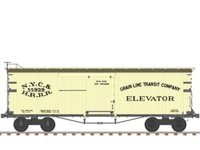 """NYC&HR 35' Boxcar with 20"""" Running Board in Smooth Fine Detail Plastic"""