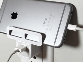 Iphone/Ipad Wall Holder in White Processed Versatile Plastic