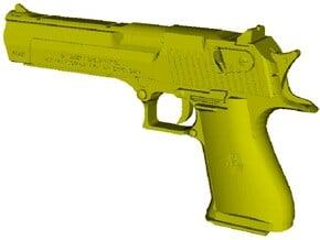 1/12 scale IMI Desert Eagle 50 Mk XIX pistol x 1 in Smooth Fine Detail Plastic