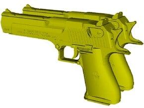 1/12 scale IMI Desert Eagle 50 Mk XIX pistols x 2 in Smooth Fine Detail Plastic