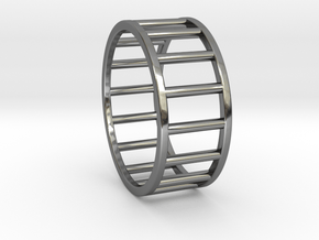 Albaro Ring- Size, 12 in Fine Detail Polished Silver