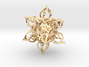 'Kaladesh' D20 Balanced Gaming Die in 14k Gold Plated Brass