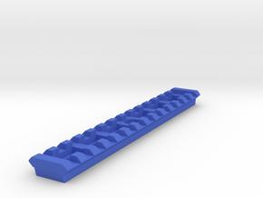 14 Slots Rail (Pre-Drilled) in Blue Processed Versatile Plastic
