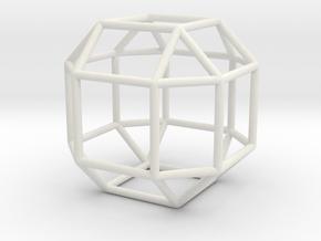 "Rhombicuboctahedron 1.3"" in White Natural Versatile Plastic"