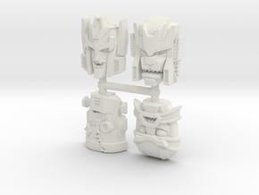 Headmonster Face 4-Pack (Titans Return) in White Natural Versatile Plastic