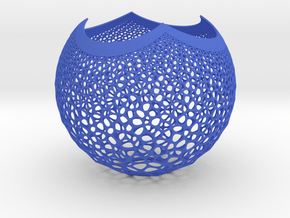 Lampshade Stereosphare 1 3d in Blue Processed Versatile Plastic