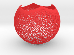 Lampshade Stereosphare 2 3d in Red Processed Versatile Plastic