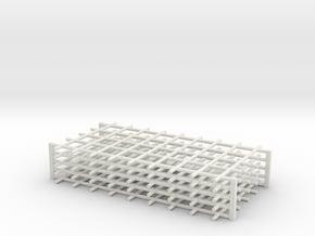 Rebar Grid 4 Feet x 8 Feet 1-87 HO Scale  in White Natural Versatile Plastic