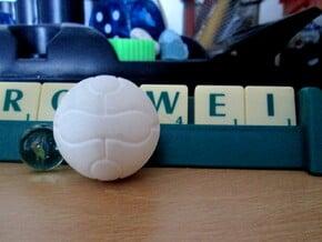 Foosball Soccer Ball (3cm) in White Natural Versatile Plastic