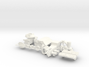 1/18 Flathead W Offy Head SCOT Blower Transmission in White Processed Versatile Plastic