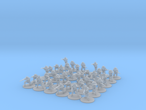 4 Squads of Modern Russian Infantry  20mm  in Smooth Fine Detail Plastic