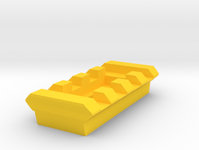 4 Slots Rail (Pre-Drilled) in Yellow Processed Versatile Plastic
