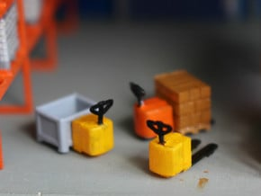 N Scale Electric Pallet Jack (4pc) in Smooth Fine Detail Plastic