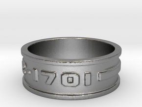 jewelry NCC-1701 ring in Natural Silver: 10 / 61.5