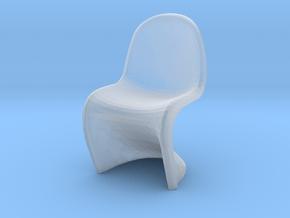 Miniature Panton Chair - Verner Panton in Smooth Fine Detail Plastic: 1:48