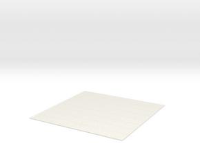 Chess Board in White Natural Versatile Plastic
