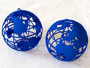 Planet Earth in Blue Processed Versatile Plastic