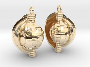 Shrinking in 14k Gold Plated Brass