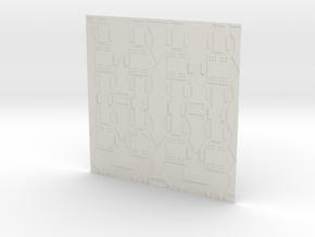 Spaceship Wall in White Natural Versatile Plastic
