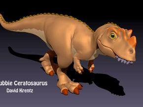 Ceratosaurus Chubbie Krentz in White Natural Versatile Plastic