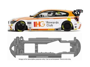 S13-ST4 Chassis for Scalextric BMW Z1 BTCC SSD/STD in Black Natural Versatile Plastic