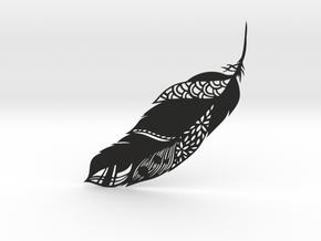 Feather Ornate in Black Natural Versatile Plastic