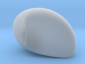 Transparent  Hermit Crab Designer Shell 3D, 1 mm  in Smooth Fine Detail Plastic
