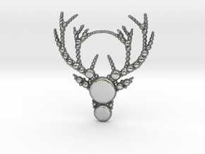 Reindeer Pattern in Natural Silver