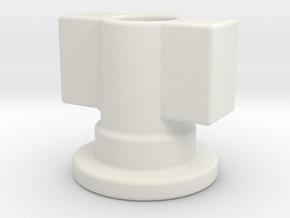 Fort Max Leg Gun Adapter in White Natural Versatile Plastic