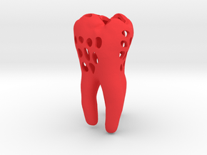 Molar Tooth 100mm with holes ---- Backenzahn 100mm in Red Processed Versatile Plastic