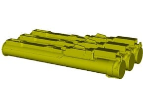 1/16 scale LAW M-72 anti-tank rocket launchers x 3 in Smooth Fine Detail Plastic