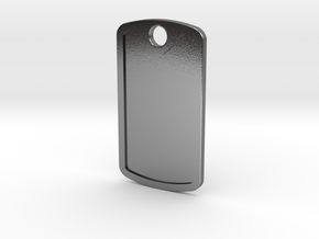Dogtag Template in Polished Silver