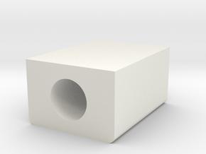 Wrist-fone-4 in White Natural Versatile Plastic